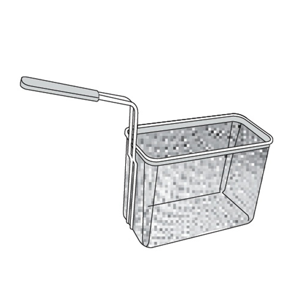 Cos inox GN 1/3 cu 1 maner, 145x290x215 h mm