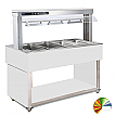Modul servire tip bufet cald bain-marie 2144 mm, 6 GN 1/1, RAL special, linia Red