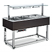 Modul servire tip bufet cald bain-marie, 1494 mm, 4 GN 1/1, wenge, linia Red