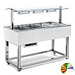 Modul servire tip bufet cald bain-marie, 1494 mm, 4 GN 1/1, RAL special, linia Red