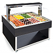 Modul servire tip bufet cald bain-marie 1494 mm, 8 GN 1/1, wenge, linia Red