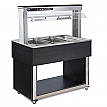 Modul servire tip bufet cald bain-marie 1169 mm, 3 GN 1/1, wenge, linia Red