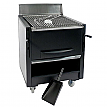 Gratar profesional barbeque pentru steak pe carbuni, 752X820X980 mm, inox
